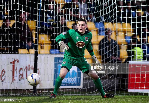 Lee Nicholls of Northampton Town in action during the npower League Two match between Torquay United and Northampton Town at Plainmoor on December 15...