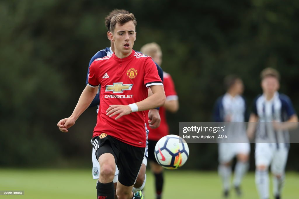 Lee O'Connor of Manchester United during the U18 Premier League match between West Bromwich Albion and Manchester United on August 19, 2017 in West Bromwich, England.