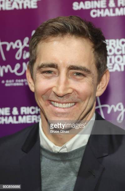 Lee Pace poses at the 'Angels In America' on Broadway's National Theatre American Associates Celebratory Gala at The Ziegfeld Ballroom on March 11...