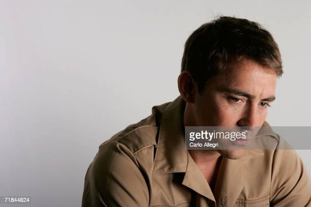 Lee Pace poses for portraits in the Chanel Celebrity Suite at the Four Season hotel during the Toronto International Film Festival on September 9,...