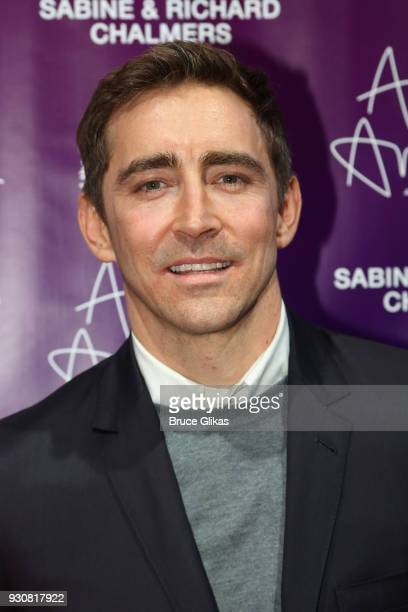 Lee Pace who plays 'Joseph Pitt' poses at the 'Angels In America' on Broadway's National Theatre American Associates Celebratory Gala at The Ziegfeld...