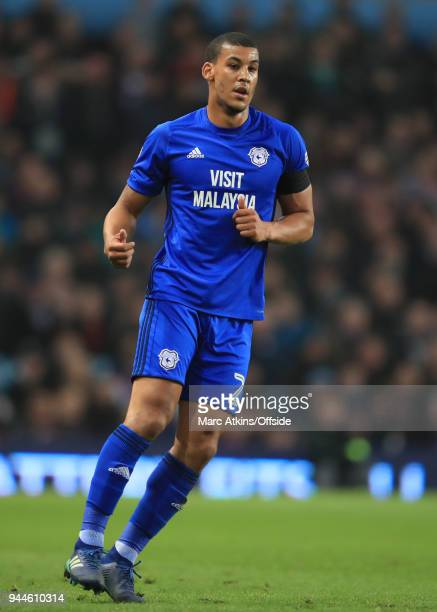 Lee Peltier of Cardiff City during the Sky Bet Championship match between Aston Villa and Cardiff City at Villa Park on April 10 2018 in Birmingham...