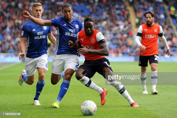 Lee PeltierPelly Ruddock Mpanzu during the Sky Bet Championship match between Cardiff City and Luton Town at Cardiff City Stadium on August 10 2019...