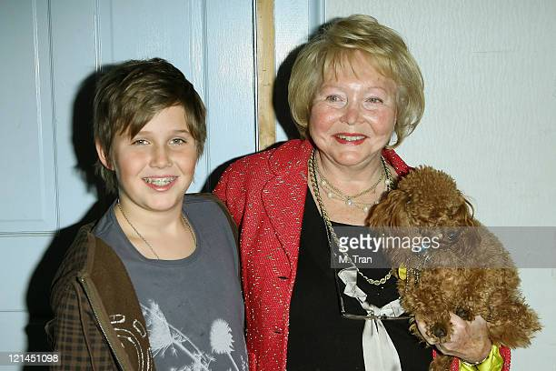 Lee Phillip Bell and grandson Chasen Bell during The Bold and the Beautiful 5000th Episode Celebration January 23 2007 at Stage 31 CBS Television...