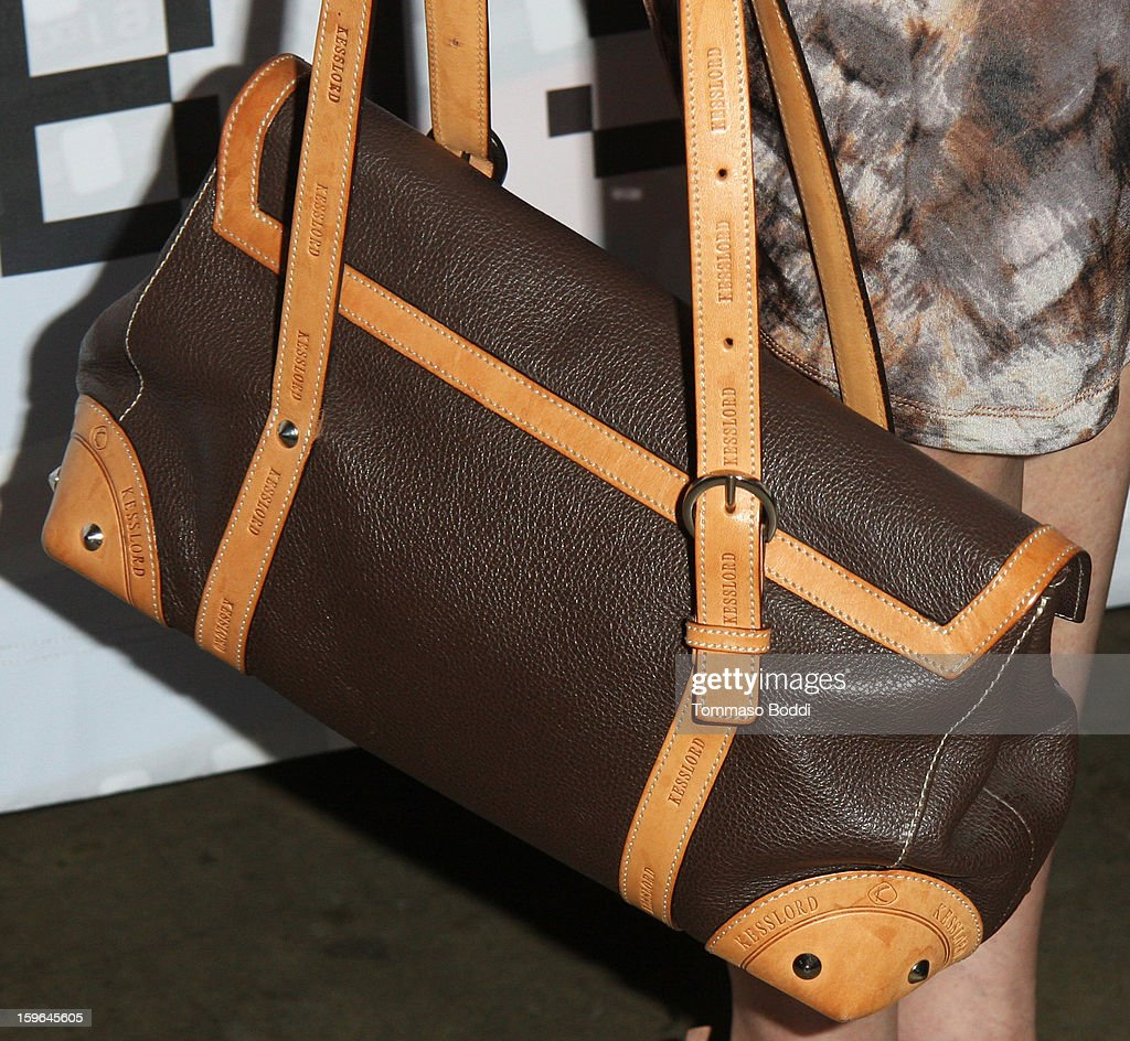 Lee Purcell (handbag details) attends the Red Line Tours presents the 'Directors Series' 2nd annual commemorative ticket VIP private press event held at American Cinematheque's Egyptian Theatre on January 17, 2013 in Hollywood, California.