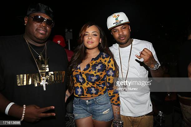Lee 'Q' O'Denat Lore'l and Chinx Drugz attend Charlamagne Tha God's birthday celebration at Stage 48 on June 26 2013 in New York City