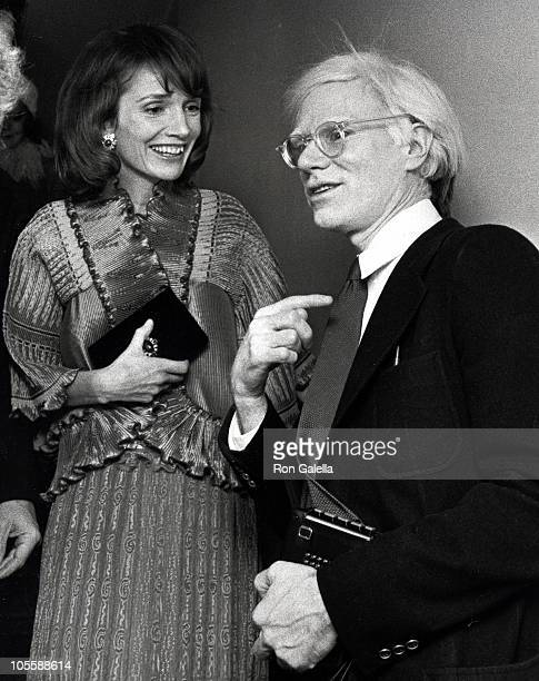 Lee Radziwell and Andy Warhol during Metropolitan Museum Costume Exhibit December 11 1975 at Metropolitan Museum of Art in New York City New York...