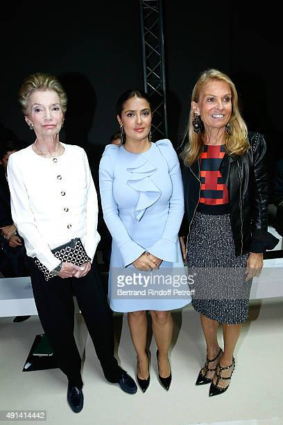 Lee Radziwill Actress Salma Hayek and Ambassador of USA in France Jane D Hartley attend the Giambattista Valli show as part of the Paris Fashion Week...