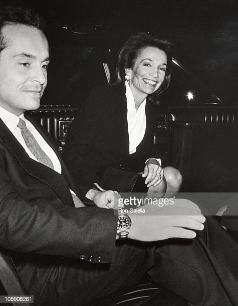 Lee Radziwill and Anthony Radziwill during Premiere of Cinema Paradiso in New York at Lincoln Center in New York City New York United States