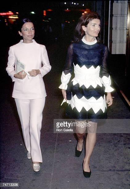 Lee Radziwill and Jackie Onassis at the Alvin Theatre in New York City New York
