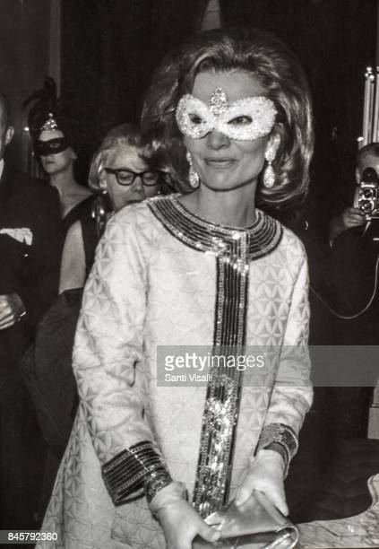 Lee Radziwill at Truman Capote BW Ball on November 28 1966 in New York New York