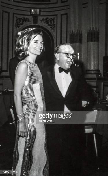 Lee Radziwill dancing with Truman Capote at Truman Capote BW Ball on November 28, 1966 in New York, New York.