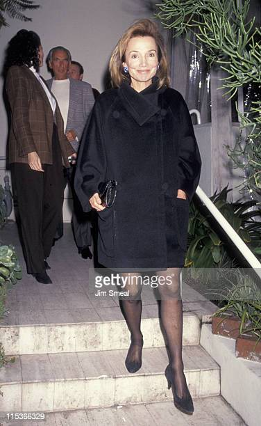 Lee Radziwill during Lee Radziwill At Spago's Restaurant January 27 1991 at Spago's in Hollywood California United States