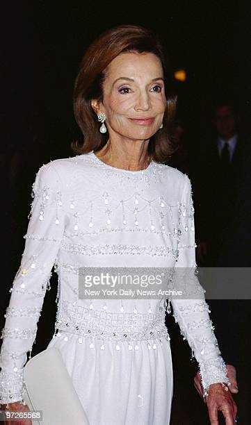 Lee Radziwill sister of Jacqueline Kennedy arrives at the Metropolitan Museum of Art for the opening of Jacqueline Kennedy The White House Years...