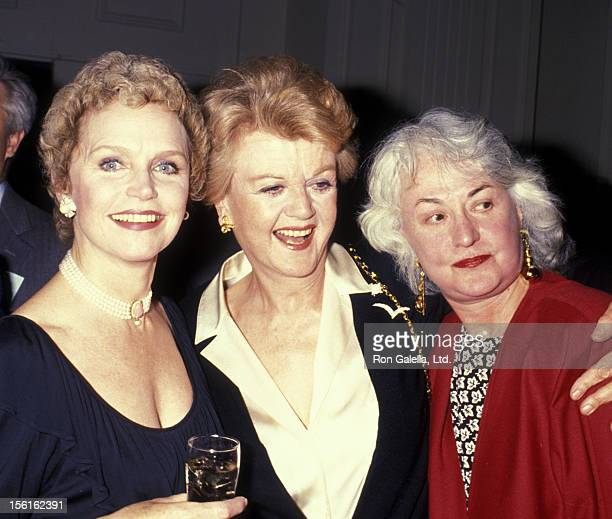 Lee Remick actress Angela Lansbury and Bea Arthur attend Television Academy Gala Honoring Angela Lansbury on February 22 1990 at the Beverly Hilton...