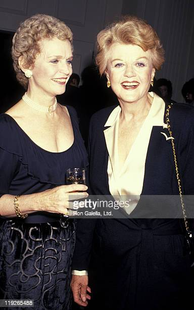 Lee Remick and actress Angela Lansbury attend Television Academy Gala Honoring Angela Lansbury on February 22 1990 at the Beverly Hilton Hotel in...
