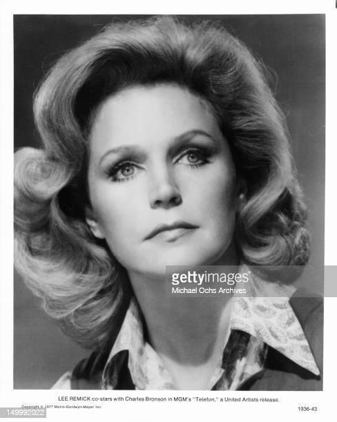 Lee Remick in a publicity portrait for the film 'Telefon' 1977