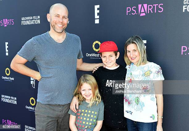 Lee Rierson and PS ARTS Boardmember Hadley Davis Rierson attend PS ARTS and OneWest Bank's Express Yourself 2016 at Barker Hangar on November 13 2016...