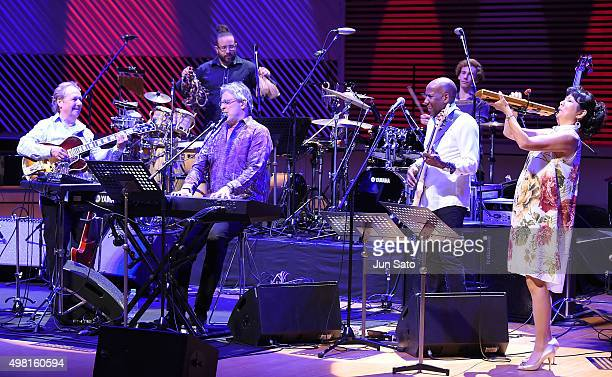 Lee Ritenour Ivan Lins Hiroko Kokubu and Nathan East perform during Kawasaki Jazz on November 21 2015 in Kawasaki Japan