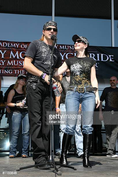 Lee Roy and Elaine Roy of The Roys prior the 5th Annual Academy of Country Music Motorcycle Ride benefiting the Academy of Country Music Charitable...