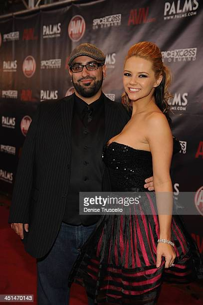 Lee Roy Myers and Ashlynn Brooke arrives at the 2010 AVN Awards at the Pearl at The Palms Casino Resort on January 9 2010 in Las Vegas Nevada