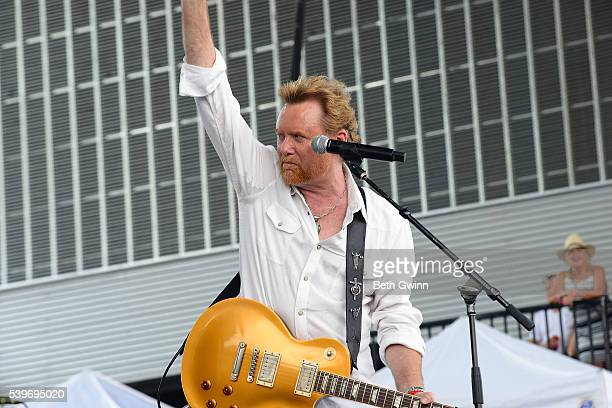 Lee Roy Parnell performs on the Honky Tonkin with Tracy Lawrence show during CMA Festival at the Ascend stage on June 12 2016 in Nashville Tennessee
