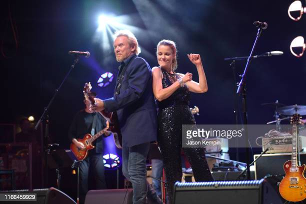 Lee Roy Parnell performs onstage at Gibson's Opening Party during Summer NAMM 2019 at Wildhorse Saloon on July 18 2019 in Nashville Tennessee