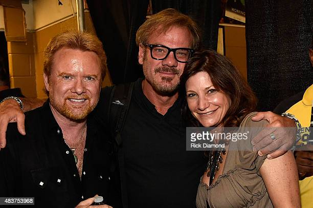 Lee Roy Parnell Phil Vassar and Tracy Gershon attend the Charlie Daniels 2015 Volunteer Jam at Bridgestone Arena on August 12 2015 in Nashville...