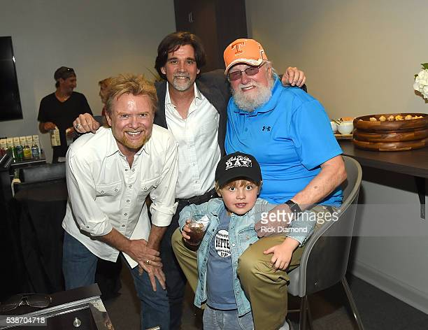 Lee Roy Parnell SVP/Partner at APA Steve Lassiter and Charlie Daniels attend the APA Nashville Party on June 7 2016 in Nashville Tennessee