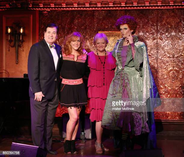 Lee Roy Reams Andrea McArdle Maria Friedman and Jay Armstrong Johnson aka Winfred Sanderson attend the Feinstein's/54 Below Press Preview on...