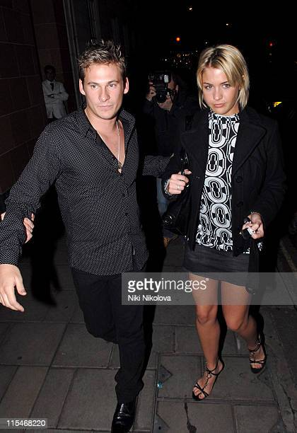 Lee Ryan and Gemma Atkinson during Lee Ryan and Gemma Atkinson Sighting at Cipriani's January 29 2007 at Cipriani Restaurant in London Great Britain