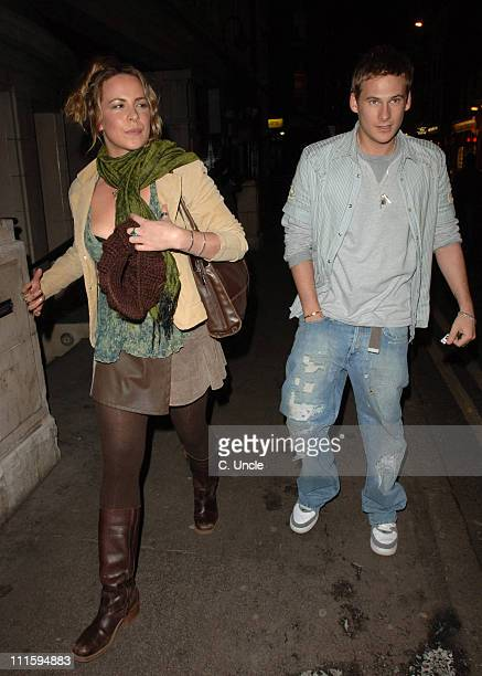 Lee Ryan and guest during Jonathan Lipman Birthday Party April 3 2006 at Play Rooms in London United Kingdom