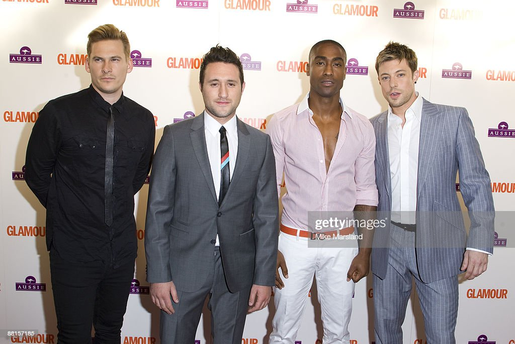 Lee Ryan, Antony Costa, Simon Webbe and Duncan James of Blue arrive at the Glamour Women of the Year Awards 2009 at the Berkeley Square Gardens on June 2nd, 2009 in London, England.