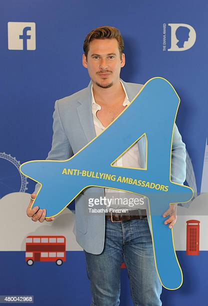 Lee Ryan attends a photocall for the Diana Award Anti Bullying showcase at Facebook London office on July 9 2015 in London England