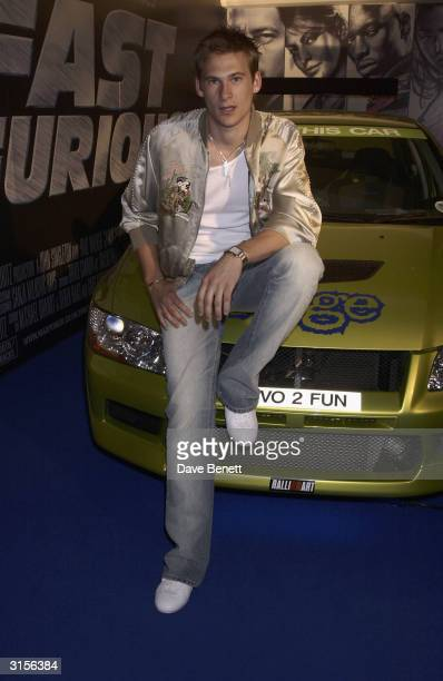 Lee Ryan from Blue attends the party for UK Premiere of '2 Fast 2 Furious' at the Poland Street NCP Car Park on June 10 2003 in London