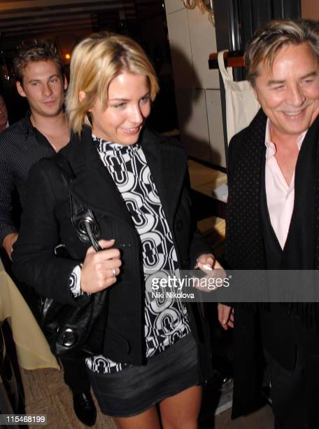 Lee Ryan Gemma Atkinson and Don Johnson during Lee Ryan and Gemma Atkinson Sighting at Cipriani's January 29 2007 at Cipriani Restaurant in London...