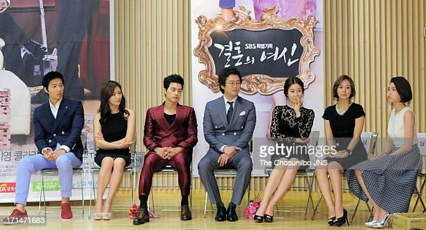 Lee SangWoo Nam SangMi Kim JiHoon Kim JungTae Lee TaeRan Sim YiYoung and Go NaEun attend the SBS Drama 'Goddess of Marriage' Press Conference at sbs...