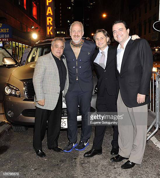 Lee Schrager Art Smith Niche Media CEO Jason Binn and Todd Hatoff of Allen Brothers Steaks attend the kick off of the NYC Wine Food Festival with...