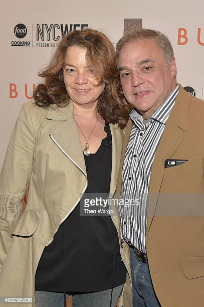 Lee Schrager attends the Private Screening Of BURNT QA Panel And Reception With Bradley Cooper And Sienna Miller during Food Network Cooking Channel...