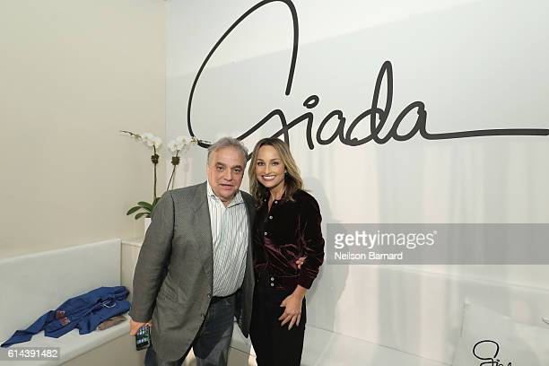 Lee Schrager New York City Wine Food Festival Founder and Director and Giada De Laurentiis pose at Barilla's Italian Table hosted by Giada De...