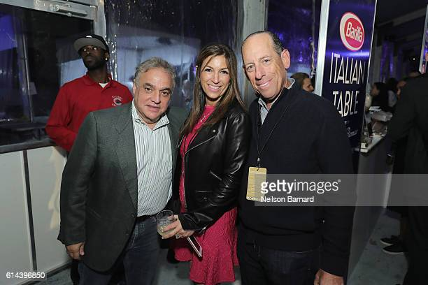 Lee Schrager New York City Wine Food Festival Founder and Director Arlene Chaplin and Wayne E Chaplin of Southern Wine and Spirits attend Barilla's...