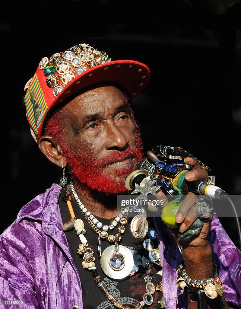 Lee 'Scratch' Perry performing at WOMAD, Charlton Park, Malmesbury, UK on 26 July 2013.