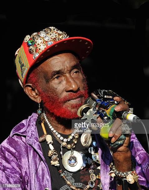 Lee 'Scratch' Perry performing at WOMAD Charlton Park Malmesbury UK on 26 July 2013