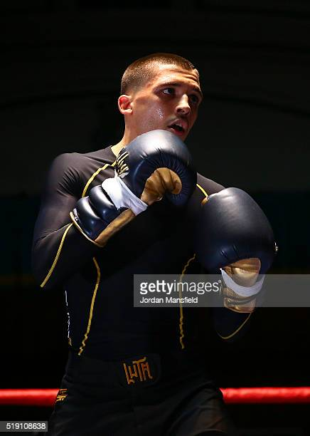 Lee Selby performs a public workout at York Hall on April 4 2016 in London England