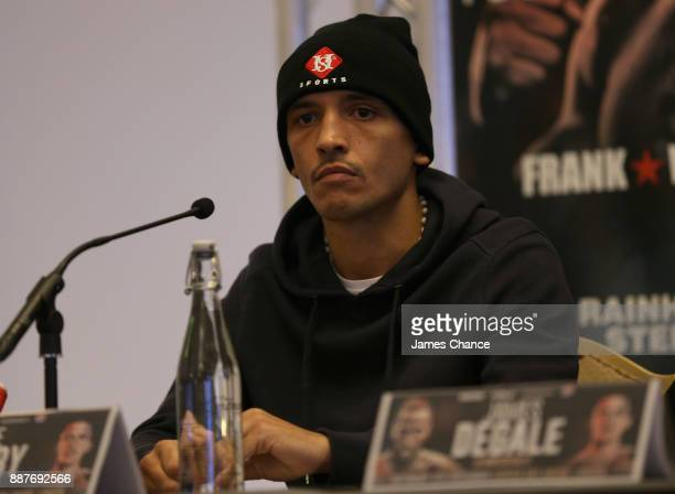 Lee Selby speaks to the media during a Boxing Press Conference at The Landmark London on December 7 2017 in London England