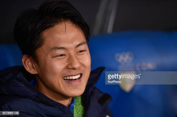 Lee SeungWoo of Hellas Verona during the Serie A match between Lazio and Hellas Verona at Olympic Stadium Roma Italy on 19 February 2018