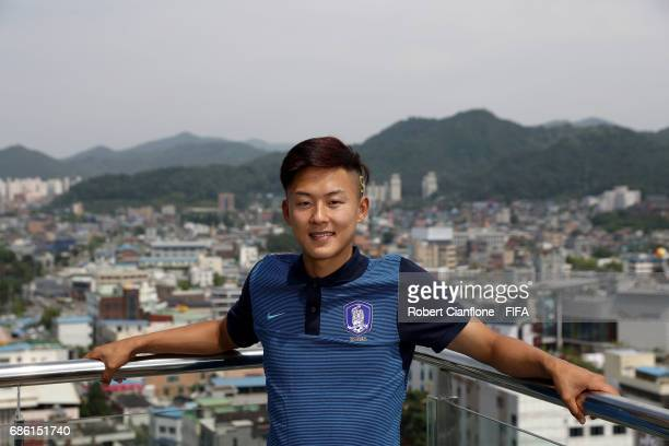 Lee Seungwoo of Korea Republic poses for a portrait during the FIFA U20 World Cup on May 21 2017 in Jeonju South Korea