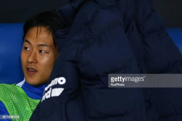 Lee SeungWoo of Verona at Olimpico Stadium in Rome Italy on February 19 2018