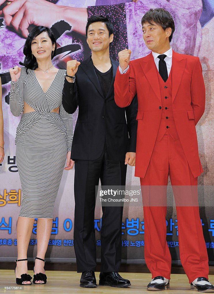 Lee Seung-Yeon, Ji Jin-Hee, and Jo Min-Ki attend the SBS Drama 'The Great Seer' Press Conference at SBS Building on September 26, 2012 in Seoul, South Korea.