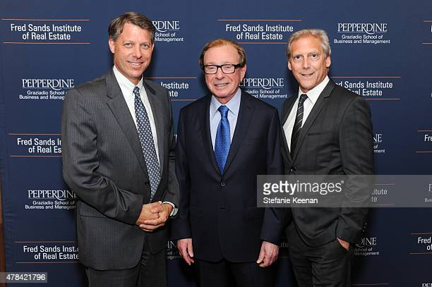 Lee Shapiro Fred Sands and Ed Sachse attend Dedication And Celebration Dinner For The Fred Sands Institute Of Real Estate At Graziadio School...
